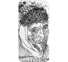 van gogh in black & white iPhone Case/Skin