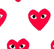 heart with eyes sticker Sticker