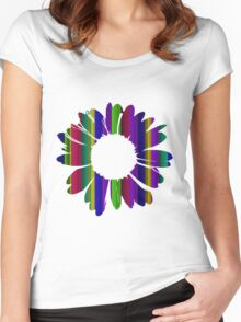 Flower 16 Women's Fitted Scoop T-Shirt