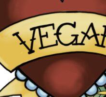 vegan trad Sticker