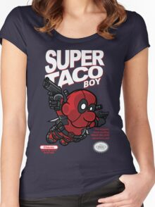 Super Taco Boy Women's Fitted Scoop T-Shirt