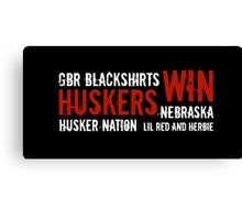 Huskers Win! Canvas Print
