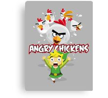 Angry Chickens ! Canvas Print