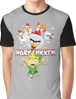 Angry Chickens ! Graphic T-Shirt