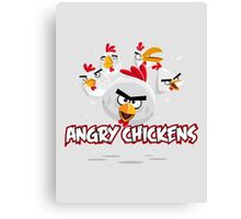 Angry Chickens 2 Canvas Print