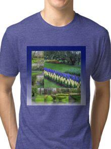 Keukenhof Hyacinths and Tulips Collage Tri-blend T-Shirt