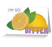 Sour Lemons Greeting Card
