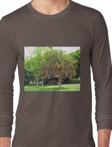 Tree with Pretty Pink Blossoms Long Sleeve T-Shirt