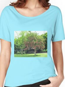 Tree with Pretty Pink Blossoms Women's Relaxed Fit T-Shirt