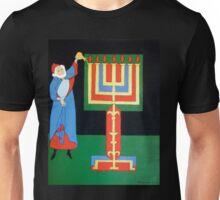 Aaron Lighting the Menorah Unisex T-Shirt