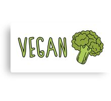 Vegan (Broccoli) Canvas Print
