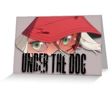 Under The Dog Theme Greeting Card