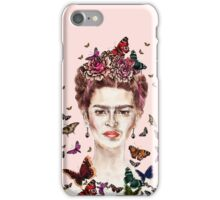 Frida Kahlo Flowers Butterflies iPhone Case/Skin