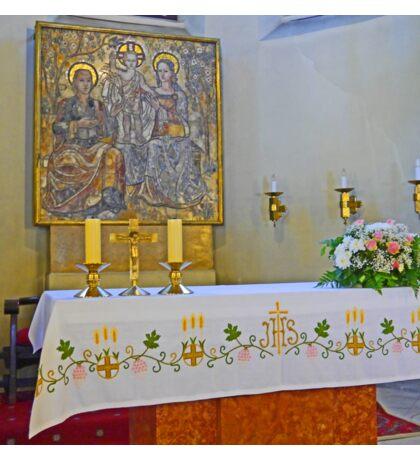 Altar in Jak Church Sticker