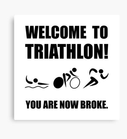 Triathlon Broke Canvas Print