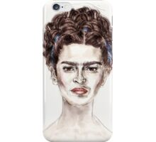 Frida Kahlo Blue Portrait Painting Face Beauty Fashion iPhone Case/Skin