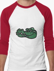 Crocodile funny evil Men's Baseball ¾ T-Shirt