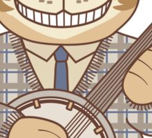 Picking and Grinning Bluegrass Banjo Cat Sticker