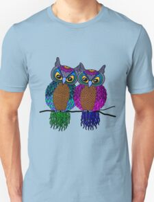 Owls in love colour Unisex T-Shirt