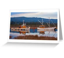 Boats Along the Huon Greeting Card
