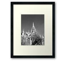 Black and White Oxford  Framed Print