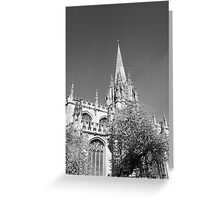Black and White Oxford  Greeting Card