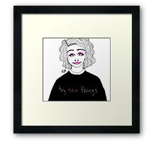 trying new things Framed Print