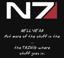 N7 - HELL YEAH One Piece - Short Sleeve