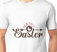 Happy Easter Text And A cute Bunny Design Unisex T-Shirt