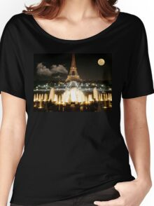 Eiffel Tower at Night Women's Relaxed Fit T-Shirt