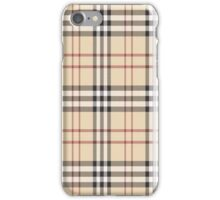 burberry inspired design iPhone Case/Skin