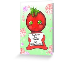 Little Lost Tomato Greeting Card