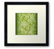 Green Floral Framed Print