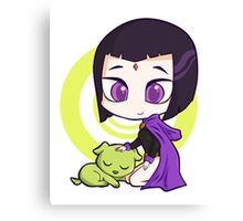 Raven and Beast Boy Canvas Print