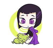 Raven and Beast Boy Photographic Print