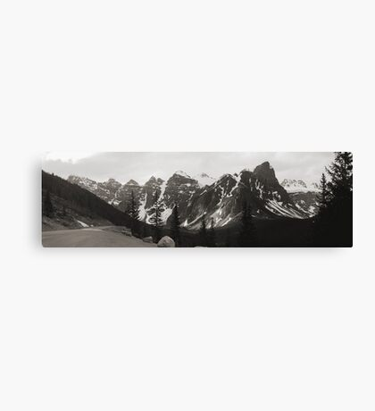 "The ""Seven Sisters"" Mountain Range, Banff, 1974 Canvas Print"