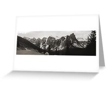 "The ""Seven Sisters"" Mountain Range, Banff, 1974 Greeting Card"