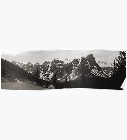 """The """"Seven Sisters"""" Mountain Range, Banff, 1974 Poster"""