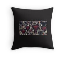 Many Hugs & Kisses Throw Pillow