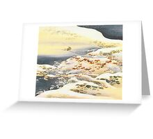 Falling Snow Greeting Card