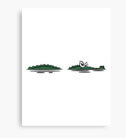 Crocodile lauren water witty Canvas Print