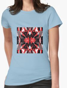 QUEEN of HEARTS red, black and silver design T-Shirt