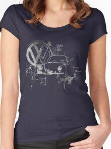 Volkswagen Beetle Splash BW © Women's Fitted Scoop T-Shirt