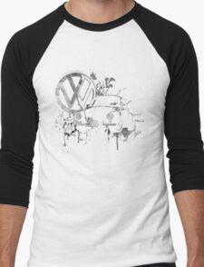 Volkswagen Beetle Splash BW © Men's Baseball ¾ T-Shirt