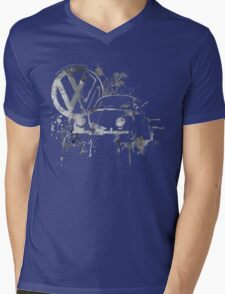 Volkswagen Beetle Splash BW © Mens V-Neck T-Shirt