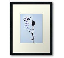 Bald Eagle in Tree Top God's Grace Framed Print