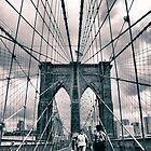 Brooklyn Bridge Crossing by Jessica Jenney