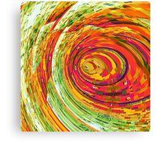 Fluorescent Wormhole Canvas Print