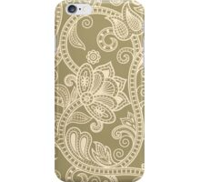 Taupe Floral iPhone Case/Skin