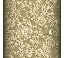 Taupe Floral Photographic Print